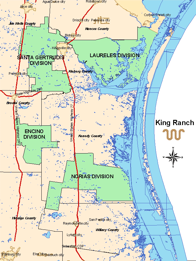 Maps King Ranch - Tx city map